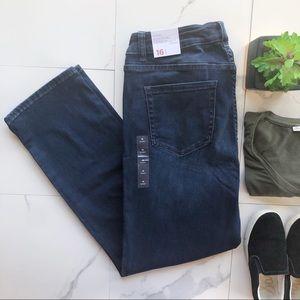 Lane Bryant Mid Rise Straight Dark Wash Jeans